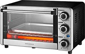 Insignia - 4-Slice Toaster Oven (NS-TO12SS8) Stainless Steel/Black