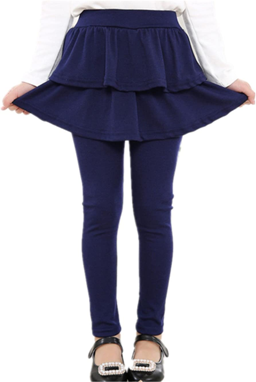Little Girls Cotton Ruffle Footless Tights Legging