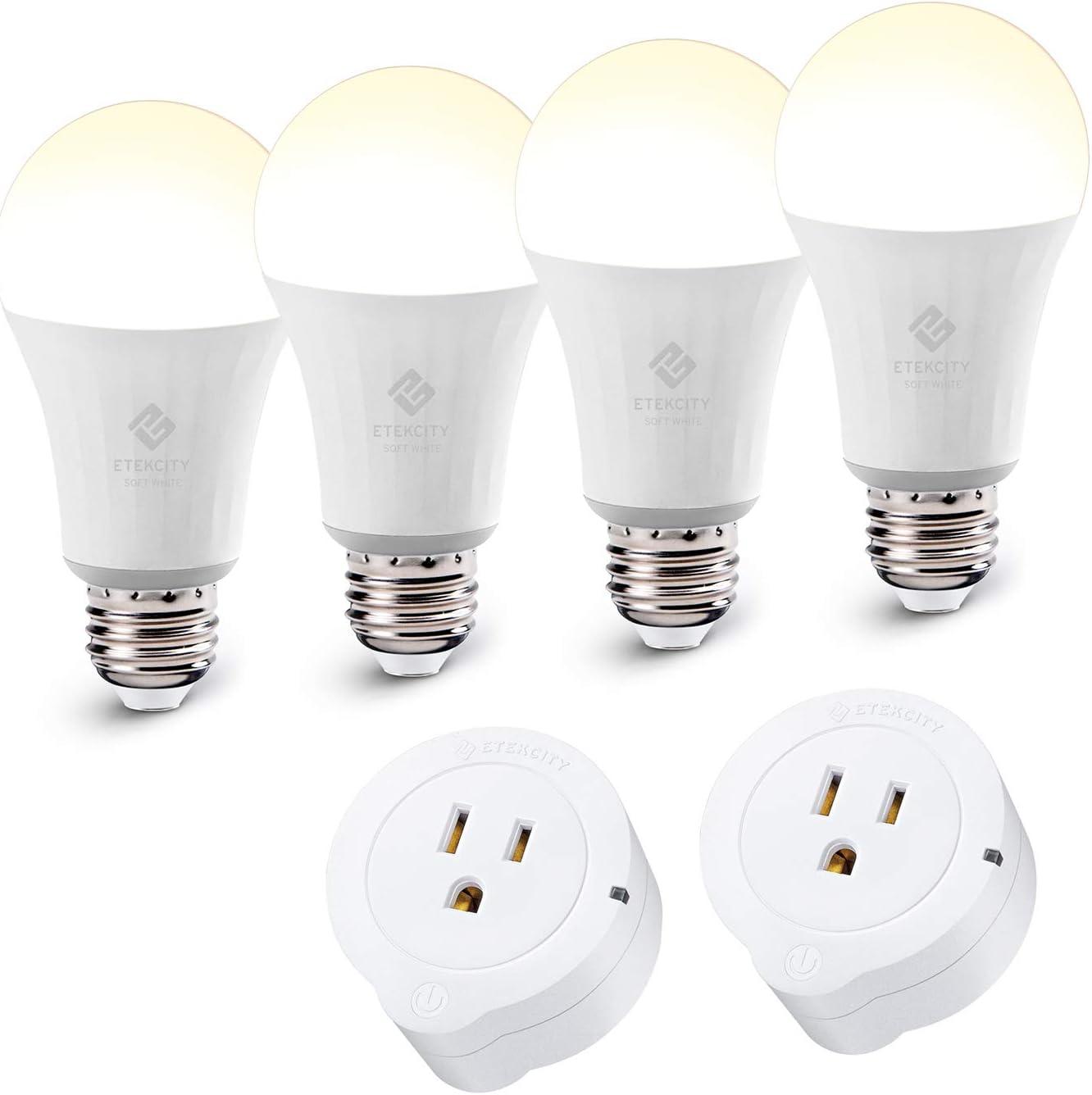 Etekcity Smart Plug and Smart Bulb Works with Alexa, Google Home & IFTTT