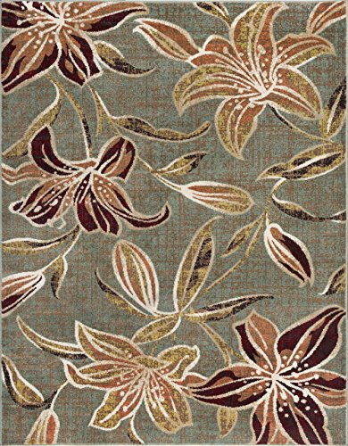 Universal Rugs DCO1113 8x10 Lily Area Rug, 8' x 10', ()
