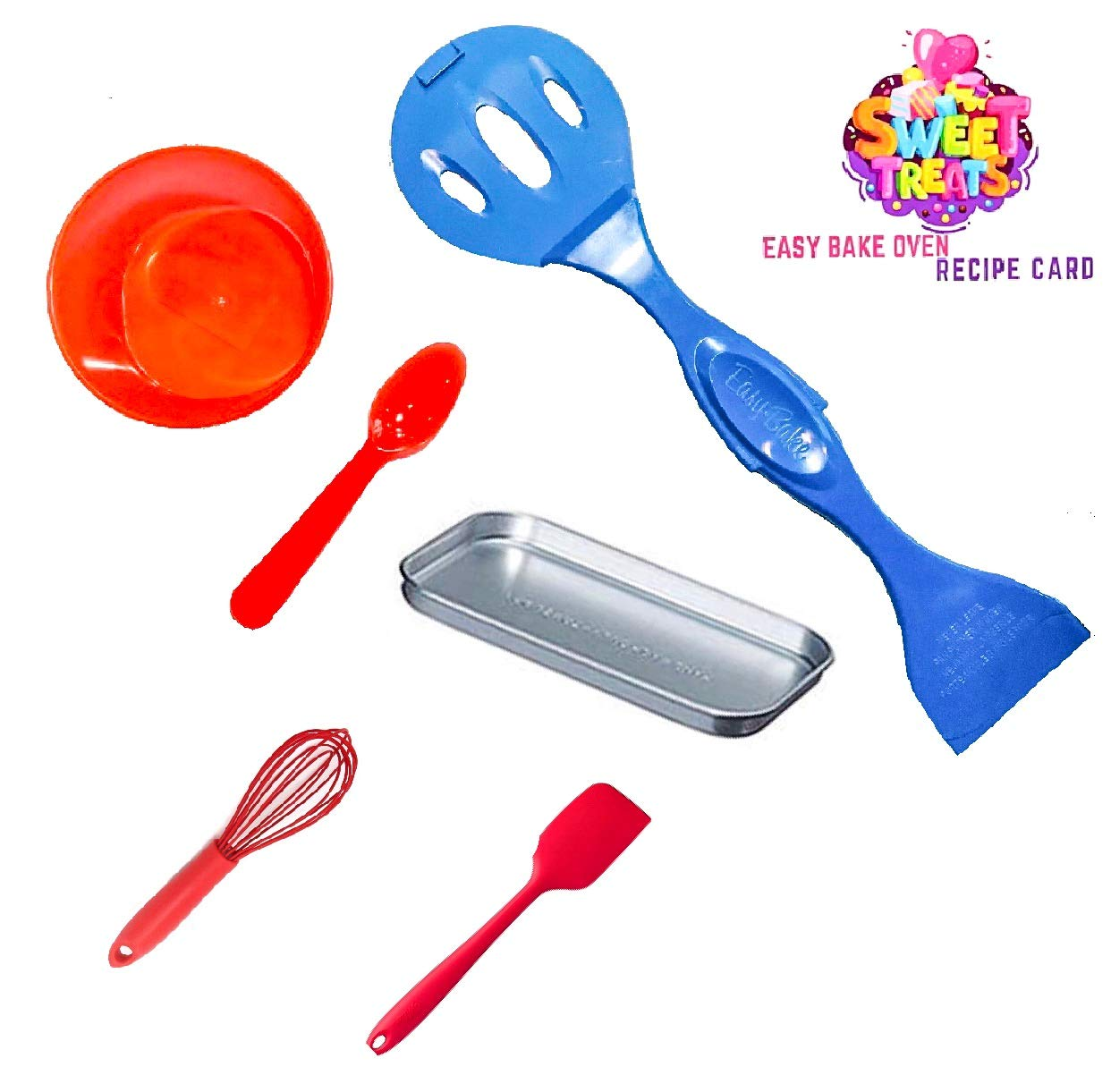 Easy Bake Ultimate Oven Baking Star Edition + 2 Oven Refill Mixes + 2 Sweet Treats Tasty Oven Recipes + Mixing Bowl, Spoon, Spatula, Whisk (8 Total Items) (red) by Easy Bake (Image #7)