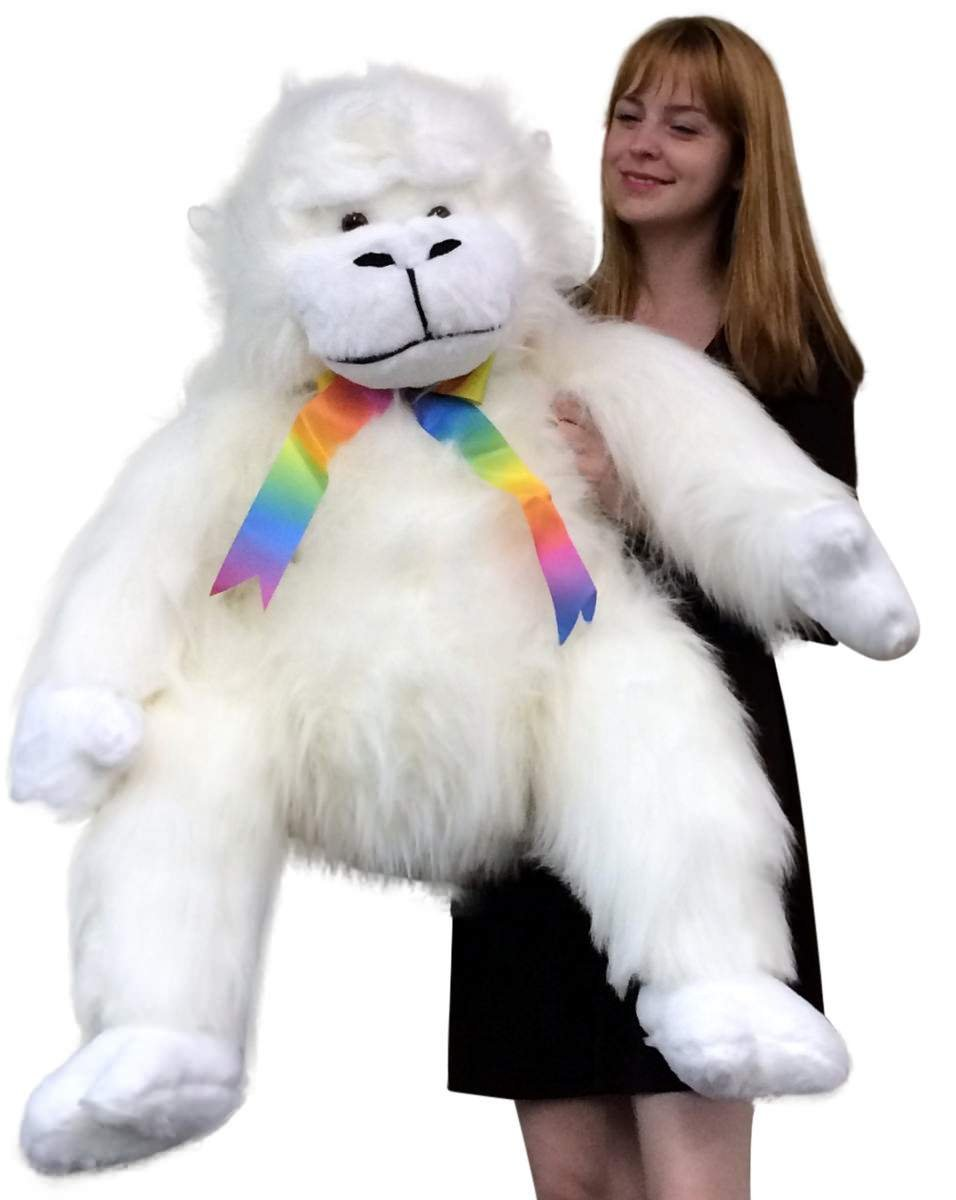 Big Plush American Made Giant Stuffed White Gorilla Monkey Soft Adorable Animal