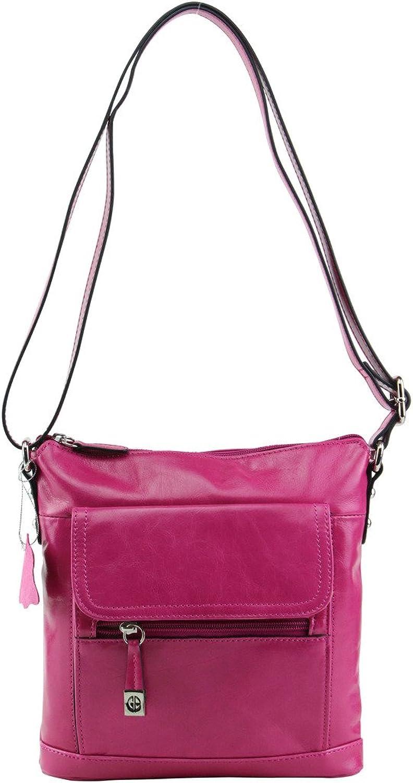 Giani Bernini Glazed Leather Crossbody Bag, Virtual Pink
