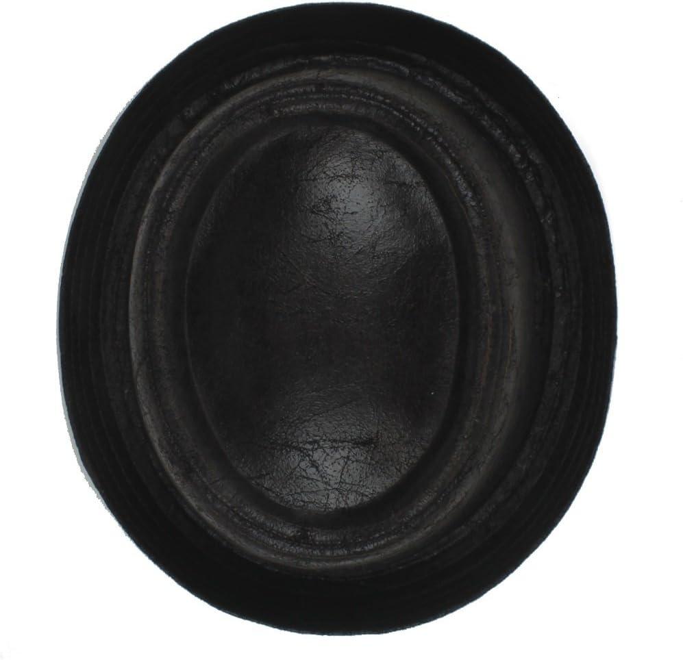 Farbe : Schwarz, Gr/ö/ße : 58-59cm GBY Herren Schwarz Leder Pork Pie Fedora Hut M/änner Bootshose Flacher Zylinder F/ür Gentleman Bowler Gambler Top Hut Gro/ße Gr/ö/ße Dropshipping