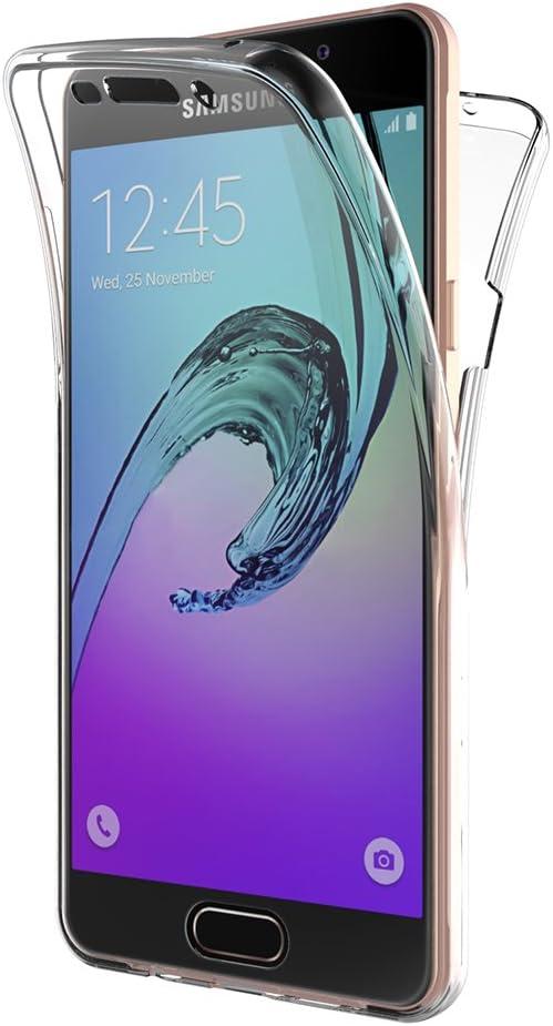 AICEK Coque Samsung Galaxy A5 2016, 360° Full Body Transparente Silicone Coque pour Samsung A5 2016 Housse Silicone Etui Case (SM-A510F 5,2 Pouces)