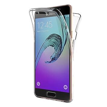 f1a5a2d5d83 AICEK Funda Samsung Galaxy A5 2016, Transparente Silicona 360°Full Body Fundas  para Samsung