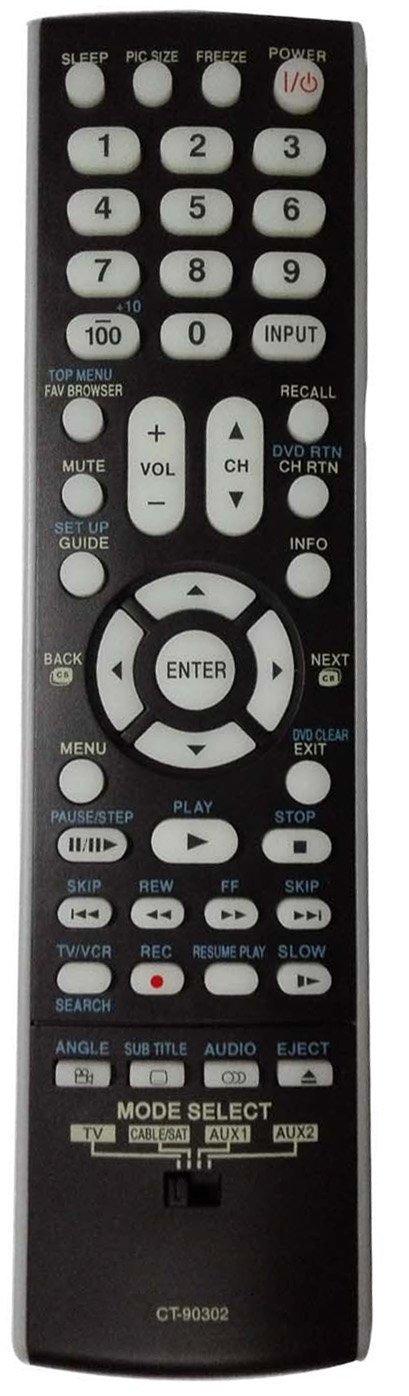 Control Remoto Smartby Toshiba LCD HDTV CT 90302 CT90302 ...