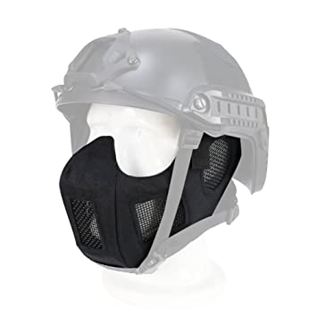 Wosport Oreille Protection Demi Masque En Acier V17 Strike Masque