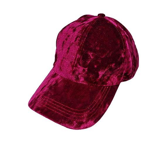 1494be9e7c83d COUCOU Age Velvet Hats for Women Baseball Caps Adjustable Soft Shining Cap  at Amazon Women s Clothing store