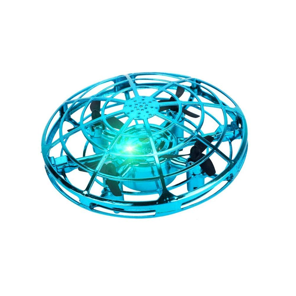 SOFEELING Flying Ball Toys Kids Drones Hand Operated 360 Rotating Shinning LED Lights Flying Toys Kids Adults (Light Green) by SOFEELING