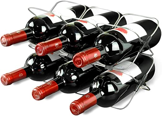 6 Bottle Folding Wine Rack and Bar Set Great for Parties
