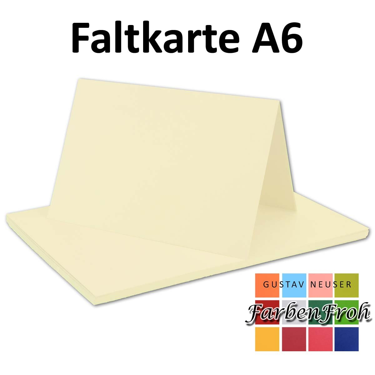 250x Falt-Karten DIN A6 Blanko Doppel-Karten in Hochweiß Kristallweiß -10,5 x 14,8 cm   Premium Qualität   FarbenFroh® B0761V972L | Gemäßigten Kosten