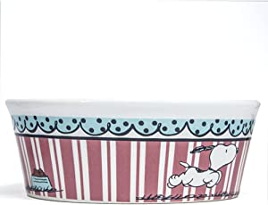 Peanuts Snoopy Dog Cat or Pet Food Bowl or Water Bowl Charlie Brown Licensed Made by Gibson 116685.01 Heavy Stoneware