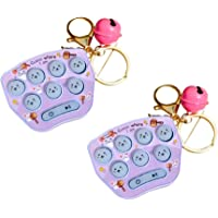 2st Mini Hamster Memory Game Toy Keychain, LED Electronic Hamster Button Game Machine,Pink 1