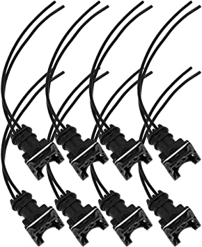 Fuel Injector Connector Wiring Plugs Clips Fit Bosch EV6 Pigtail Cut /& Splice 4