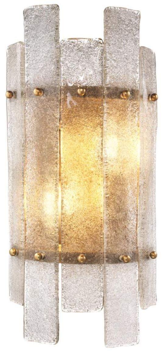 Casa Casa Casa Padrino Luxus Wandleuchte Antik Messing 19 x 10 x H. 40 cm - Wandlampe mit mundgeblasenem Glas B07HHXSHVB | Internationale Wahl  1e1a63