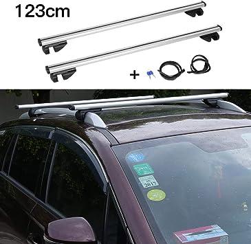 con serratura antifurto con 2 chiavi universali in alluminio colore nero Barre portapacchi per auto