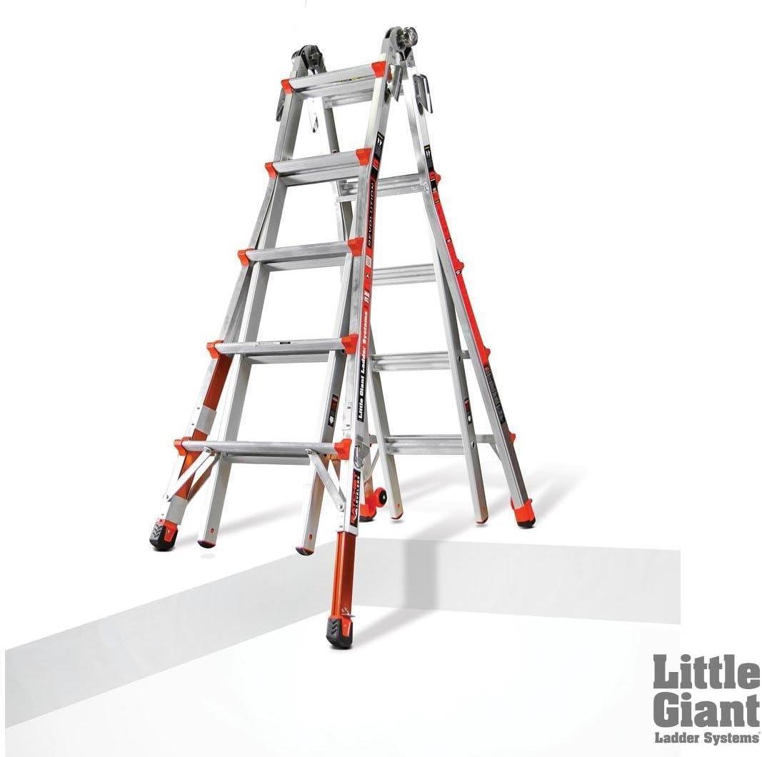 Poco gigante escalera tipo 1 una revolución XE/W trinquete niveladores M22 12022 – 801 – -W # 436bre T44/35pds113548: Amazon.es: Jardín