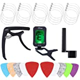Auihiay 18 Pieces Ukulele Strings Accessories Kit Include Nylon Ukulele Strings, Tuner, Felt Picks, Capo, String Winder for S