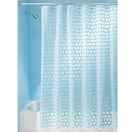 InterDesign Honeycomb Shower Curtain 72 X Aqua