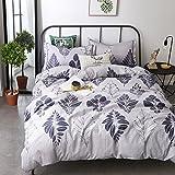 KFZ Ecology Cotton Bed SET Bedding Set Duvet Cover No Comforter Flat sheet pillow cases MF King Set 78''x91'' Plant Flower Leaf Design for Girls Sheets Set (Leaf Dance, Pink, Queen 78''x91'' 4pcs)