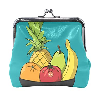 Amazon.com: Monedero de dibujos animados Cuenco de frutas ...
