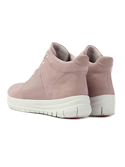 c245c73fe86 Fitflop Women s Sporty-Pop X Lizard Print High-Top Sneakers - Nude Pink   Amazon.co.uk  Shoes   Bags