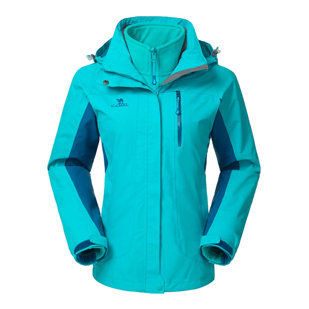 Camel Women's 3-in-1 Systems Jacket Waterproof Color Blue