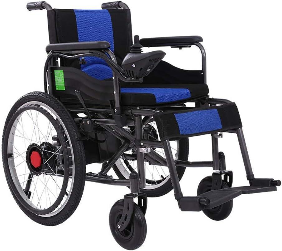 Inicio Accesorios Ancianos Discapacitados Ancianos Práctica Silla de Ruedas Eléctrica Motor Dual 250W Control de 360 grados Control de Joystick Manual Eléctrico Silla de Ruedas Plegable de Doble