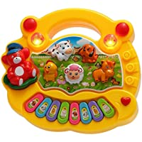 Super Toy Animal Sound Piano Musical Toy For Kids (Multi-Color)
