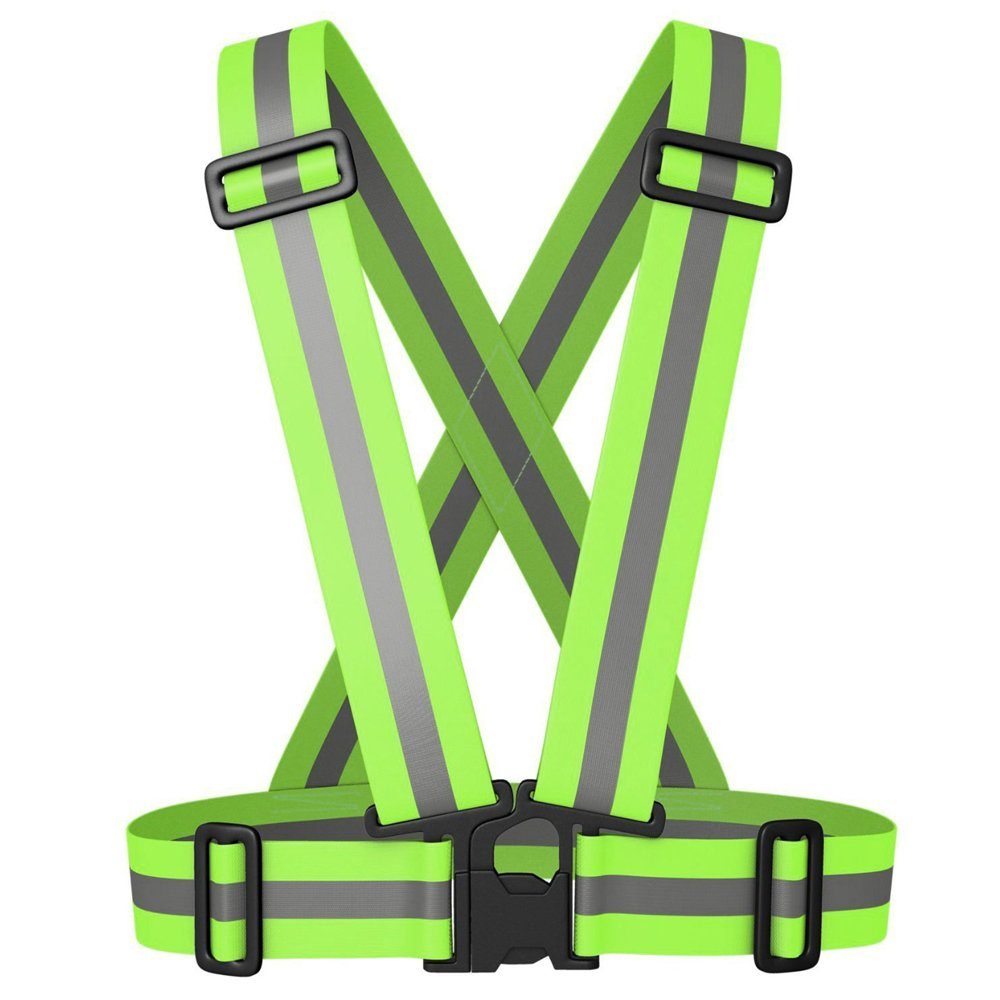 Meyerglobal Reflective Vest, High Visibility, Safety Adjustable Belt Regular Size (10piecesGreen, Regular Size) by Meyerglobal (Image #1)