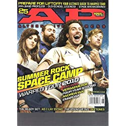 AP Alternative Press Magazine (Summer Rock Space Camp Warped tour 2010, August 2010)
