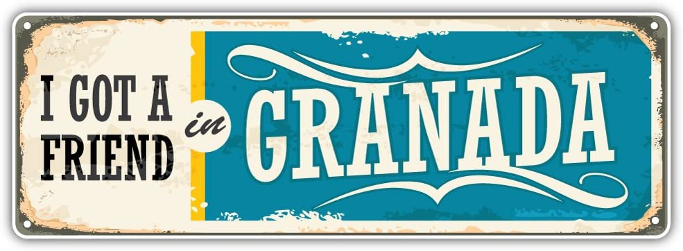 Granada City Nicaragua Retro Sign Travel Bumper Sticker Vinyl Art Decal for Car Truck Van Window Bike Laptop