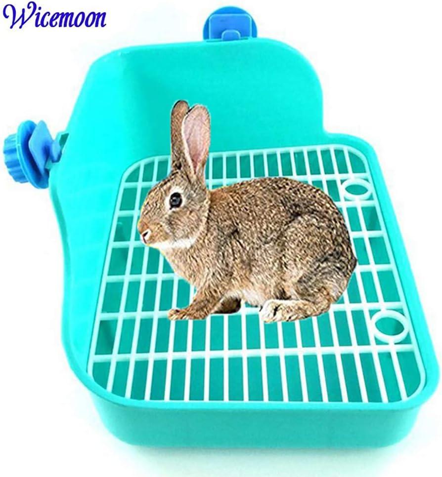 Wicemoon - Inodoro limpio para conejos con doble rejilla para orina antipulverizadora