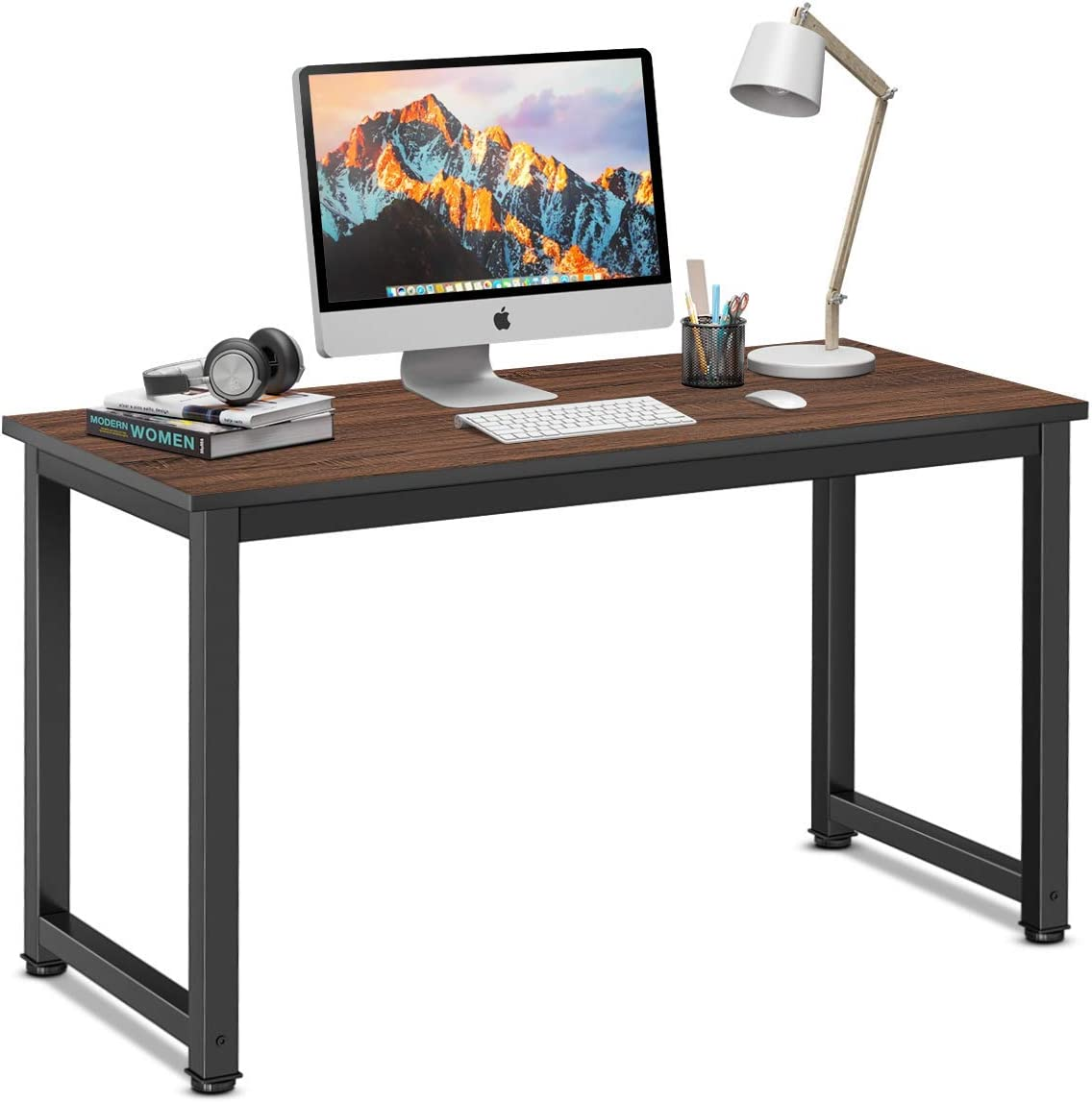 Homemaxs Office Writing Desk, 47 x23 MDF and Metal Office Computer Desk for Home Office Workstation
