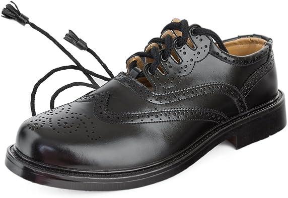 Best Kilts Homme écossais Cuir Ghillie Chaussures, Kilt Chaussures Tailles : 17,8 cm – 30,5 cm