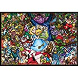 Tenyo DP-1000-027 Disney Stained Glass Alice in Wonderland 1000 Piece Jigsaw Puzzle