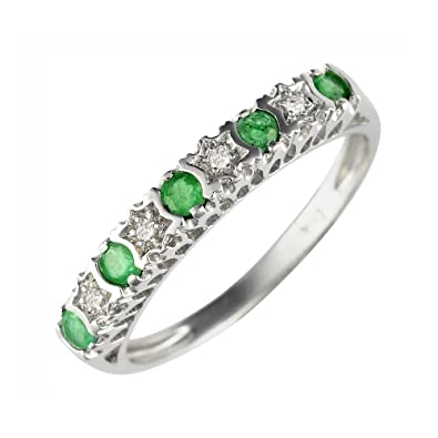 Ivy Gems Sterling Silver Five Stone Half Eternity Ring 9DXEFF