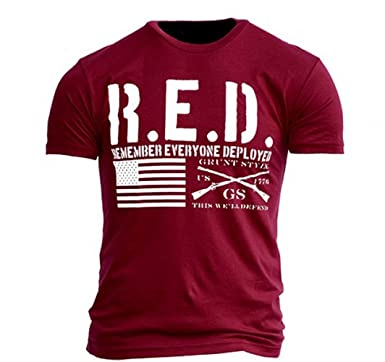 18677981 Amazon.com: Grunt Style The RED Shirt Men's T-Shirt: Clothing