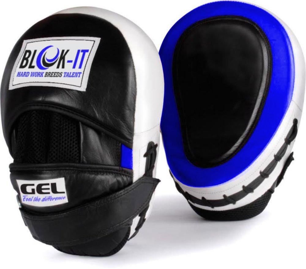 Blok-IT パンチングミット - 高い衝撃吸収性と完璧な装着感、ゲル入りパンチングミットでより激しく、より速く、より正確に、打つトレーニングを。 - どんな格闘技のトレーニングにも! B01HI1IBZO 青 青