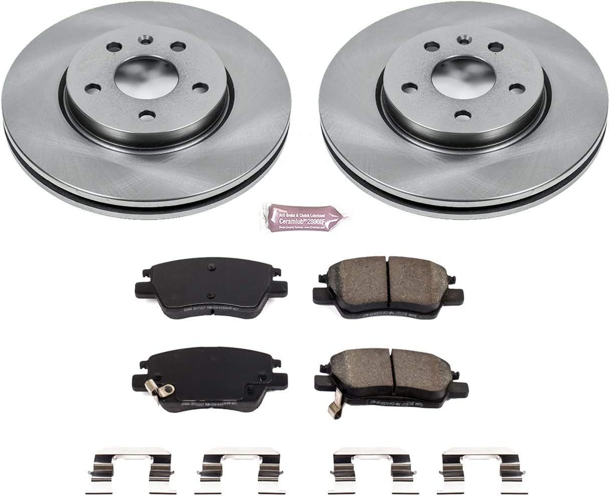 Power Stop Autospeciality KOE7399 Front Kit-Stock Rotors and Ceramic Brake Pads