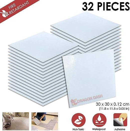 32 Stucke Schalen und Kleben 30 x 30 x 0.1 cm Heimtextilien J SCHWARZ MARMOR Design PVC Bodenbelag Fliesen Selbstklebend Vinyl-Fliesen 1175