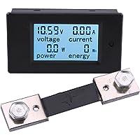 Digital Multimeter Voltmeter Ammeter, Yeecoo DC6.5-100V 100A Voltage Amperage Power Energy Meter DC Voltage Current Volt…