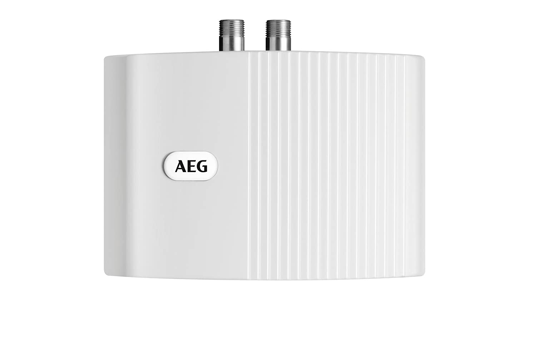 AEG 189554 MTH 350 Petit chauffe-eau instantané circuit ouvert à écoulement libre 3, 5 kW 230 V Blanc
