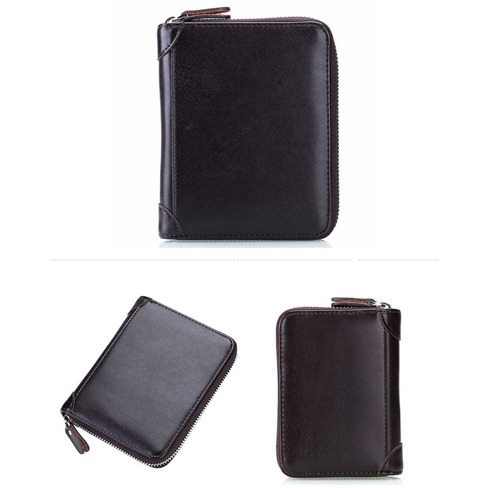 Aladin RFID Blocking Double Passport Holder /& 40 Slots Leather Credit Card Case Coffee CC013-COF