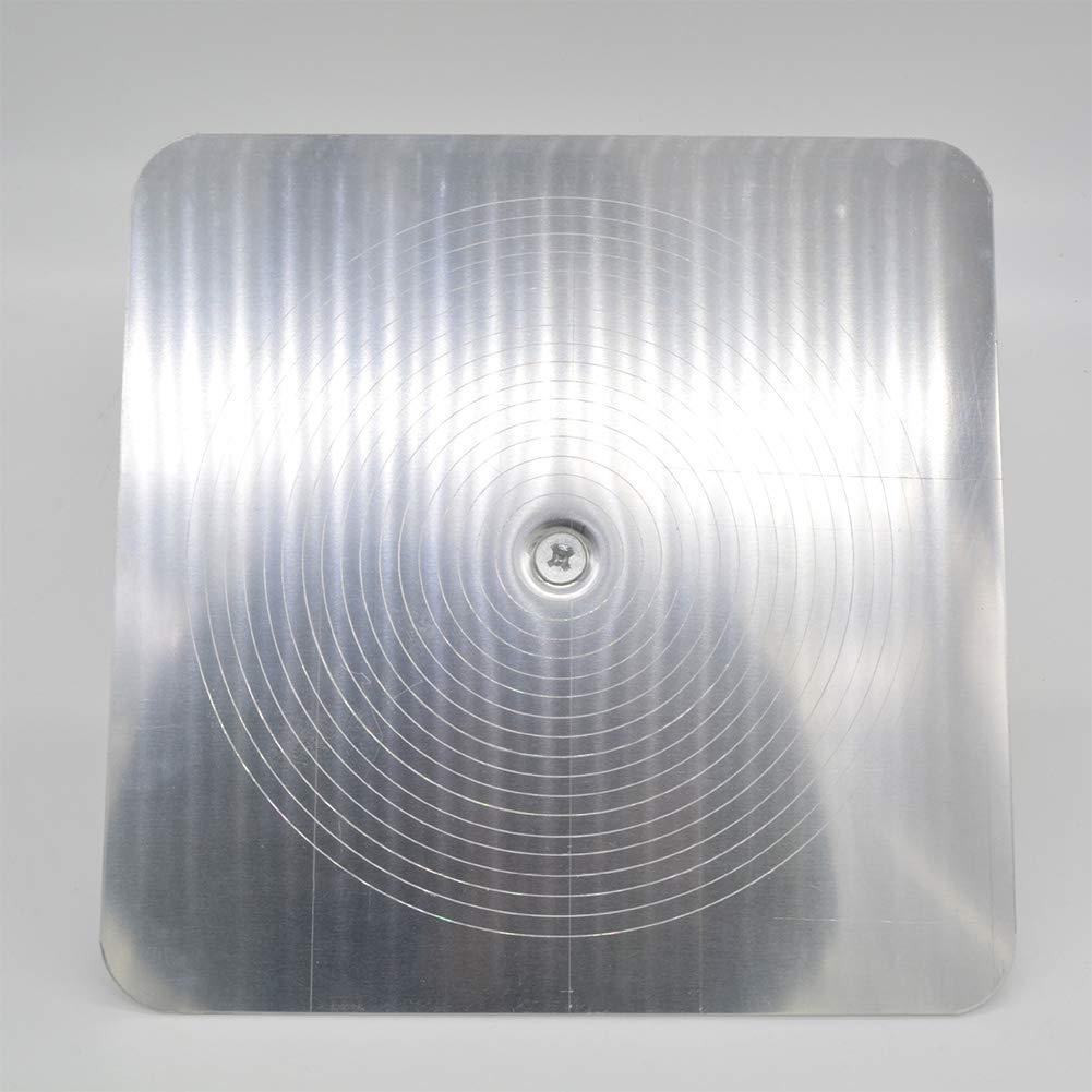 Aluminium Farbe mit Griff zum Verarbeiten von Putzwerkzeug INGHU Gipser-Falken Kelle mit Griff Free Size M/örtelbrett Gips Heimdekoratoren Siehe Abbildung Hawk