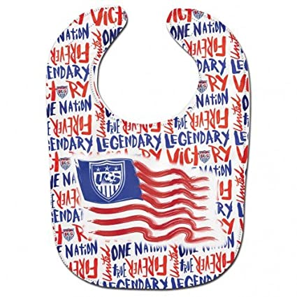 c846dee5139 Image Unavailable. Image not available for. Color  WinCraft USA Soccer  National Team Red White Blue Baby Infant Bib