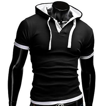 Chándal de hombres Camisas hombre de Talla grande Camisetas casuales  Sudadera con capucha de moda del a8459f8d1b6ec