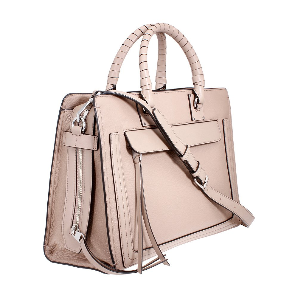 Rebecca Minkoff Bree Ladies Large Leather Satchel Handbag HS18LBES90265