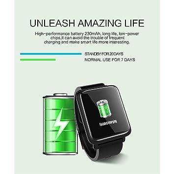 Anding Smartwatch con Pulsómetro,Impermeable IP67 Reloj Inteligente ...